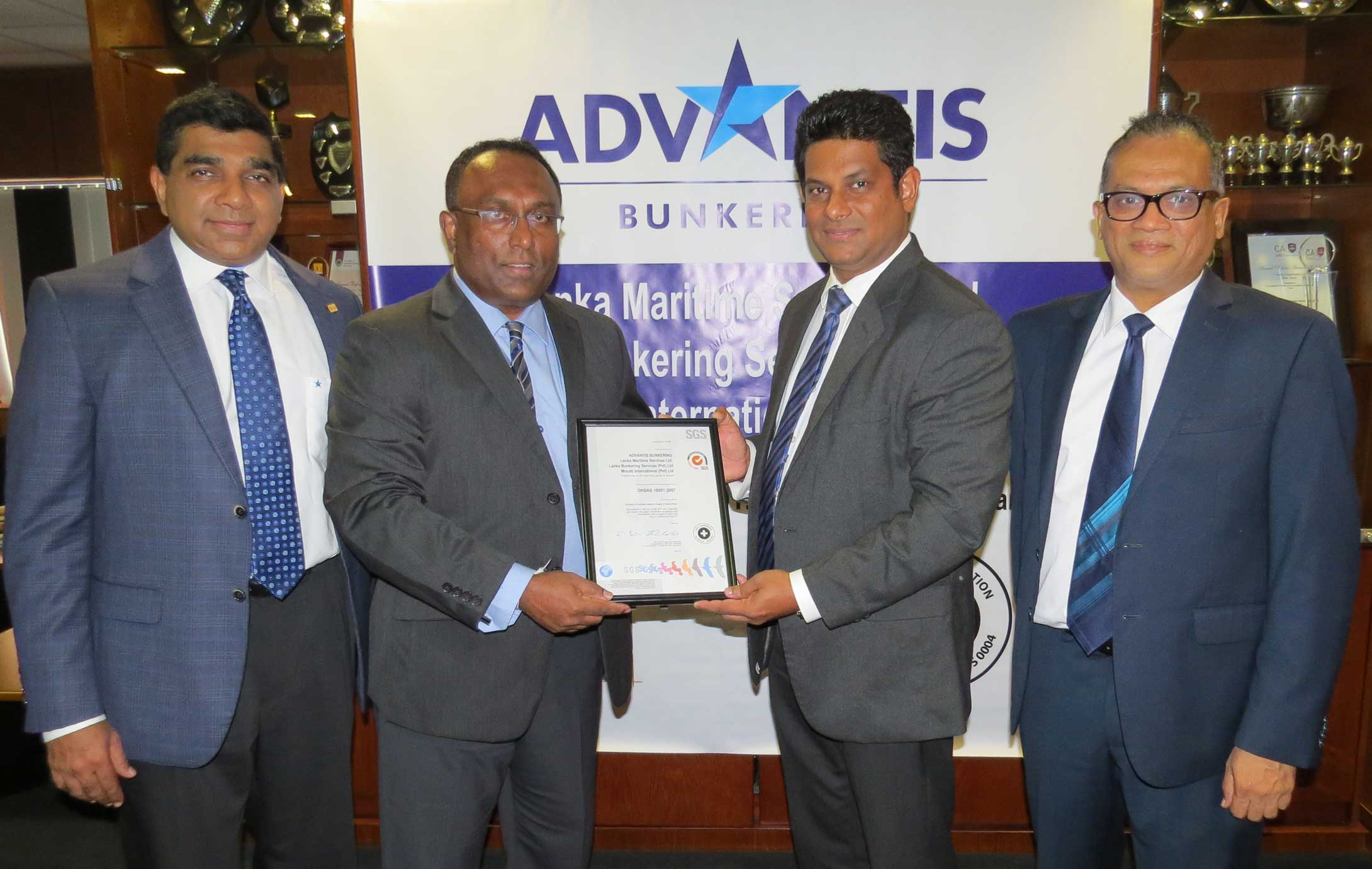 Advantis-Bunkering-receives-OHSAS-Certification